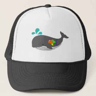Friendly Whale Trucker Hat