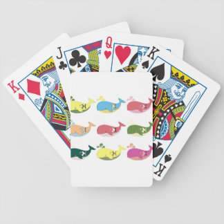 Friendly Whales Bicycle Playing Cards