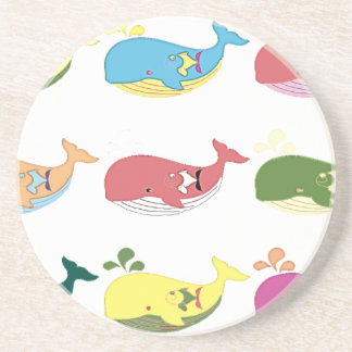 Friendly Whales Drink Coaster