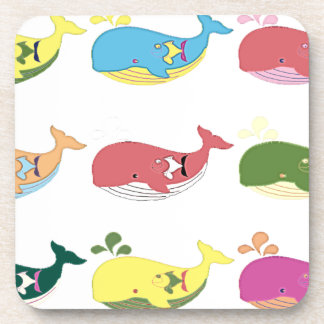 Friendly Whales Drink Coasters