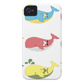 Friendly Whales iPhone 4 Covers