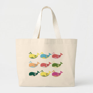 Friendly Whales Large Tote Bag