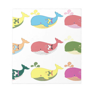 Friendly Whales Notepad