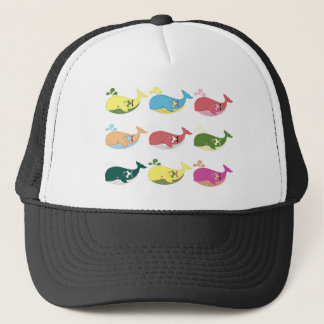 Friendly Whales Trucker Hat