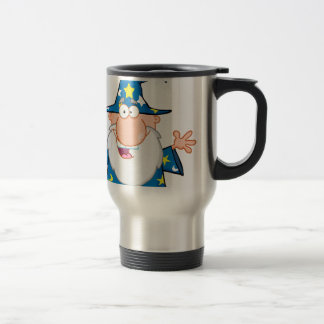 Friendly Wizard With Open Arms Travel Mug