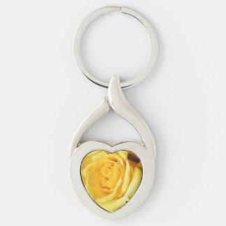 Friendly Yellow Rose Keychain
