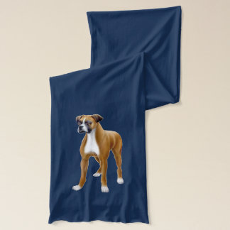 Friendly Young Boxer Dog Scarf