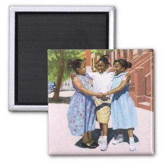 Friends 2001 square magnet