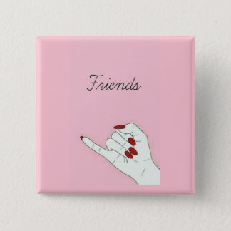 Friends 2 Inch Square Button