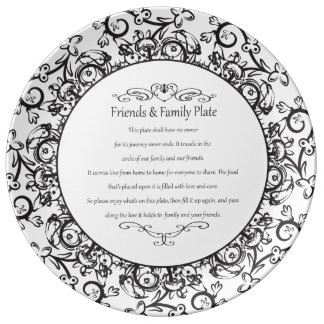 Friends and Family Plate Porcelain Plates