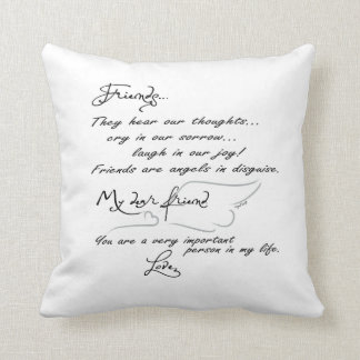 Friends are Angels in disguise... pillow