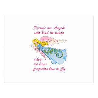 FRIENDS ARE ANGELS POSTCARD