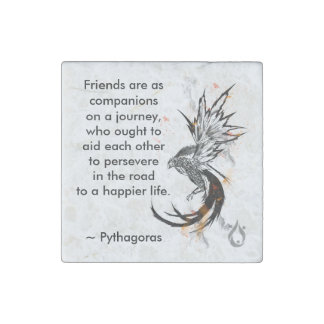 Friends are companions Magnet Stone Magnets