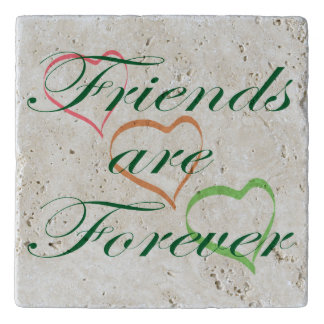 Friends are Forever Hearts Trivet