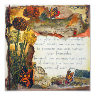 Friends Are Important Mixed Media | Photo Print