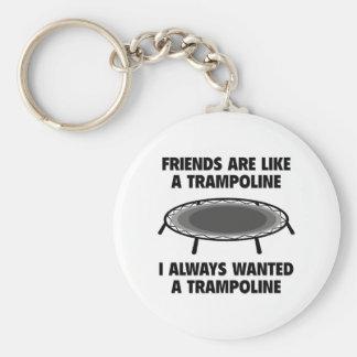 Friends Are Like A Trampoline Keychain
