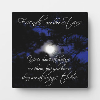 """Friends are Like Stars"" Lovely Friendship Gift Plaque"