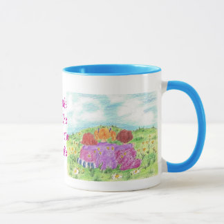 Friends Are The Sunshine Of Life Flower Meadow Mug