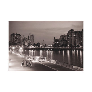 """Friends at Sunset"" - Singapore Kallang river view Canvas Print"