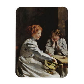 Friends at the Table Rectangular Photo Magnet