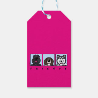 Friends: Bouvier, Beagle & Alaskan Malamute Gift Tags
