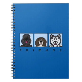 Friends: Bouvier, Beagle & Alaskan Malamute Notebook