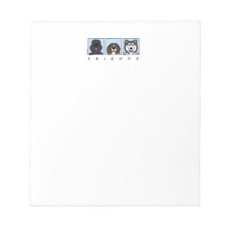 Friends: Bouvier, Beagle & Alaskan Malamute Notepads