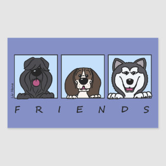 Friends: Bouvier, Beagle & Alaskan Malamute Sticker