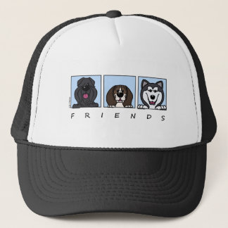 Friends: Bouvier, Beagle & Alaskan Malamute Trucker Hat