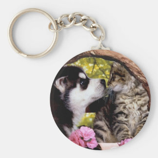 Friends Dog and Cat  Keychain