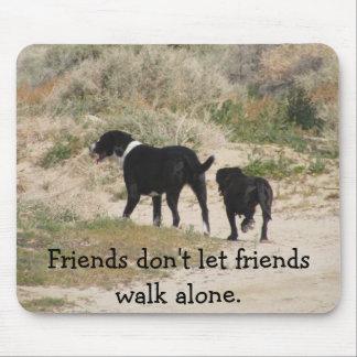 Friends don t let friends walk alone mouse pad