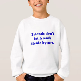 Friends dont let friends divide by zero sweatshirt