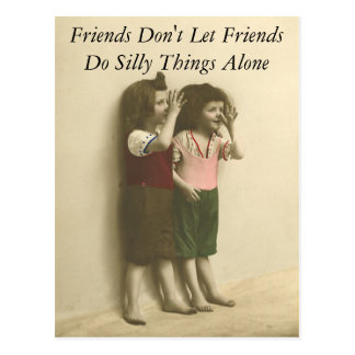 Friends Don't Let Friends Do Silly Things Alone Postcard