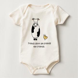 Friends Don't Let Friends Eat Friends Baby Bodysuit