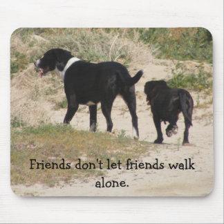 Friends don't let friends walk alone (Lg) Mousepads