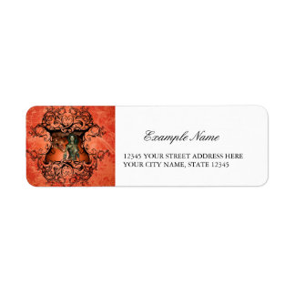 Friends, dragon with fighter return address label