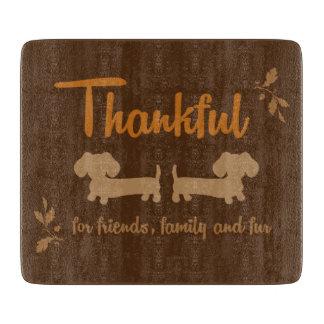 Friends Family & Fur Wiener Dog Cutting Board