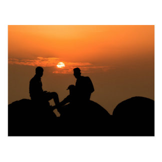 Friends Forever at Sunset Postcard