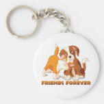 Friends Forever Basic Round Button Keychain