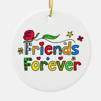 Friends Forever Ceramic Ornament