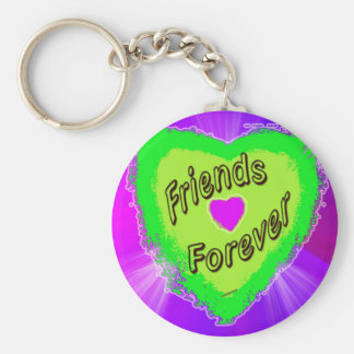 Friends forever Green Heart Keychain