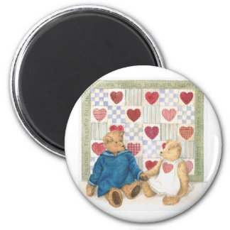 friends forever illustrated teddy bears magnet