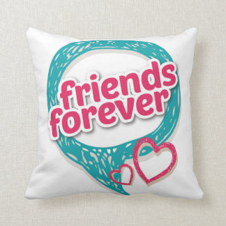 Friends Forever Love hearts <3 Throw Pillow
