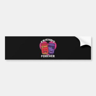 Friends Forever - Peanut Butter And Jelly Kawaii Bumper Sticker