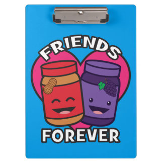 Friends Forever - Peanut Butter And Jelly Kawaii Clipboard