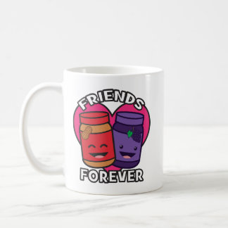 Friends Forever - Peanut Butter And Jelly Kawaii Coffee Mug