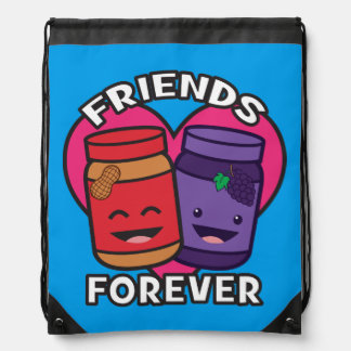 Friends Forever - Peanut Butter And Jelly Kawaii Drawstring Bag