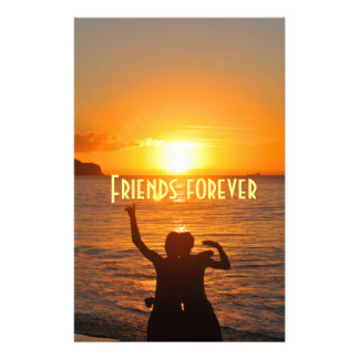 Friends forever personalized stationery
