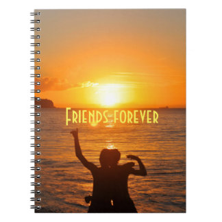 Friends forever spiral notebooks