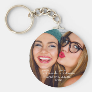 Friends forever | upload photo add names and date keychain